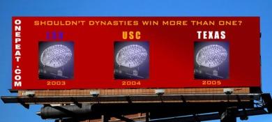 USC football billboard onepeat
