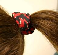 brown ponytail