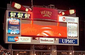 heinz field scoreboard heinz red zone